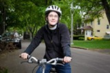 PHOTO BY MARK CHAMBERLIN - The Rev. Ruth Ferguson of Christ Church says that by biking more, she could set an example for members of her congregation.