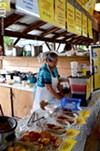 """The Sri-Lankan """"Curry in a Hurry"""" stand at the Ithaca Farmers' Market."""