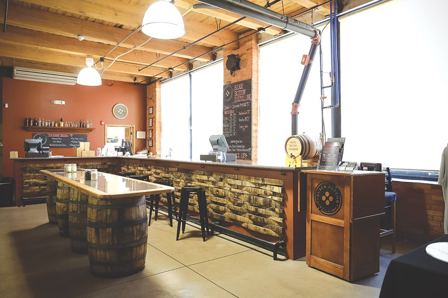 The tasting room at Black Button. - PHOTO BY MIKE HANLON