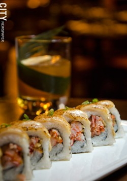 The Tiki Torch roll from Nikko. - PHOTO BY MARK CHAMBERLIN