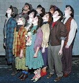 "COURTESY JCC - The whizzers of awes: The cast of JCC's ""Urinetown."""