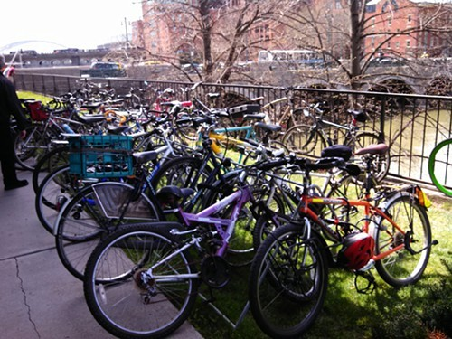 This is what parking looks like at an active transportation summit.