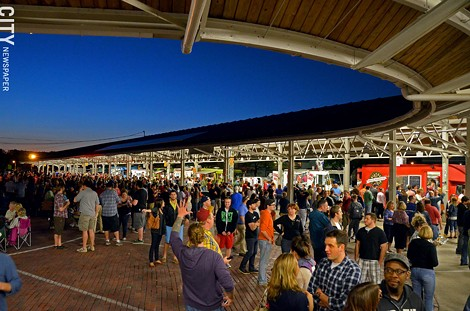 Throngs of people showed up for the October Food Truck Rodeo at the Rochester Public Market. - PHOTO BY MATT DETURCK