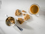 PHOTO BY MARK CHAMBERLIN - Toasted maple-cinnamon Monks' Bread with Once Again Nut Butters' almond butter, and Mountain Rise classic granola.