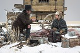 """PHOTO COURTESY ROADSIDE ATTRACTIONS - Tommy Lee Jones and Hilary Swank in """"The Homesman."""""""