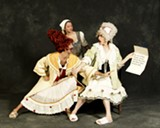 """PHOTO BY NANCY SANDS - Traditionally, Cinderella's evil stepsisters have been performed by men to add a comedic spin to the roles. Rochester City Ballet's production of """"Cinderella"""" will open this weekend."""