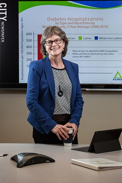 Trilby de Jung, CEO, Finger Lakes Health Systems Agency. - PHOTO BY JOHN SCHLIA