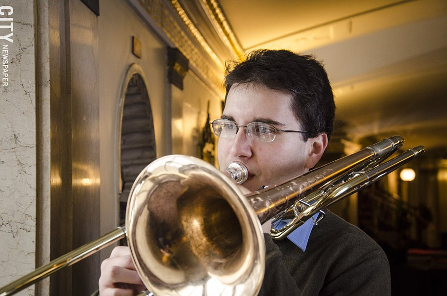Trombonist Ben Aronson, a doctoral student at Eastman will also perform with the Great Lakes Wind Symphony. - PHOTO BY MARK CHAMBERLIN