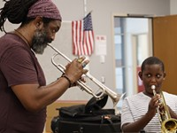 Herb Smith lends a helping horn to young Black men