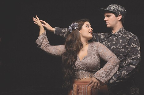 "Soprano Cassidy Thompson and baritone Trevor Cook will perform in Eastman Opera Theatre's production of ""Hydrogen Jukebox,"" which begins Thursday in Kilbourn Hall. - PHOTO BY GRANT TAYLOR"