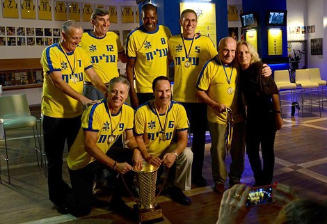 """Members of the 1977 Maccabi Tel Aviv basketball team, in """"On the Map."""" - PHOTO COURTESY HEY JUDE PRODUCTIONS"""