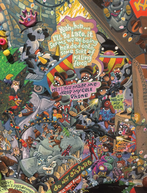 "Detail of John Kastner's ""Filthy Animal's Plasticrap."" - FILE PHOTO"