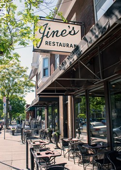 Jines's outdoor seating at Park and Berkeley offers some of the best dining-and-people-watching in the city. - PHOTO BY RENÉE HEININGER