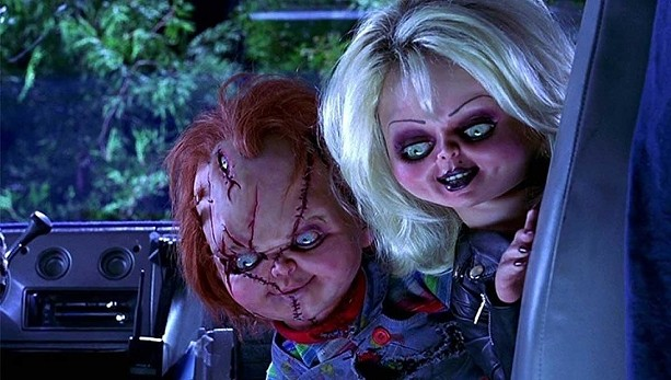 "Chucky (voiced by Brad Dourif) and Tiffany (Jennifer Tilly) in ""Bride of Chucky."" - PHOTO COURTESY UNIVERSAL PICTURES"