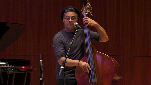 Double bassist Adam Ben Ezra's performance on Monday, June 24 at the 2019 CGI Rochester International Jazz Festival was practically orchestral. - PHOTO BY MARTIN  KAUFMAN