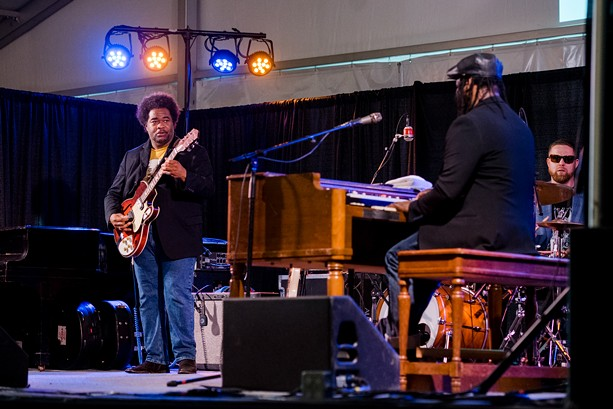 The Delvon Lamarr  Organ Trio played it good 'n' hot at the Squeezers Stage on Monday, June 24, as part of the 2019 CGI Rochester International Jazz Festival. - PHOTO BY JOSH SAUNDERS