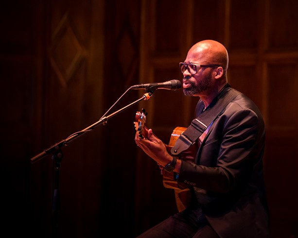 Lionel Loueke performed at Kilbourn Hall on Wednesday, June 26 as part of the 2019 CGI Rochester International Jazz Festival. - PHOTO BY JOSH SAUNDERS
