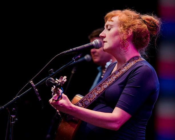 Amanda Anne Platt & The Honeycutters delivered two sets of authentic Americana at Geva Theatre Center's Fielding Stage on Thursday, June 27. - PHOTO BY JOSH SAUNDERS