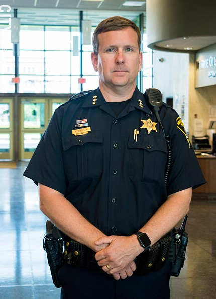 Undersheriff Korey Brown says he's concerned about parts of the new bail laws that require police officers to issue appearance tickets for many low-level offenses. - PHOTO BY JACOB WALSH