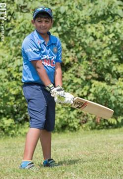 Third-grader  Arjun Savudu plays both cricket - and baseball. - PHOTO BY JACOB WALSH