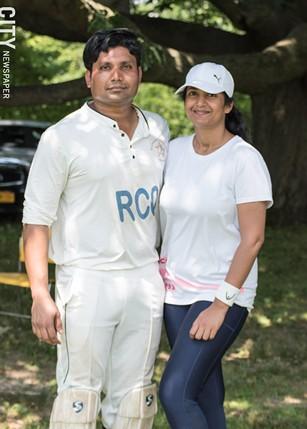Ramakant Desani and Divya Nerabetla: cricket brought them together. - PHOTO BY JACOB WALSH