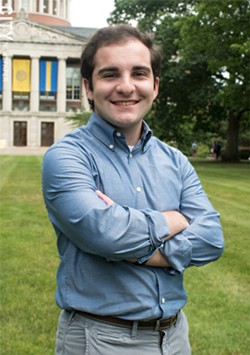 Student Joey Loffredo, a member of U of R's Committee for Political Engagement, says student - involvement in local elections is important. - PHOTO BY JACOB WALSH