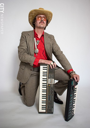 Rochester musician Beef Gordon is an offbeat crooner whose stage presence is somewhere between shady and chic. - PHOTO BY JACOB WALSH