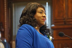 City Council member LaShay Harris at council's swearing-in ceremony on January 2, 2020. - PHOTO BY GINO FANELLI