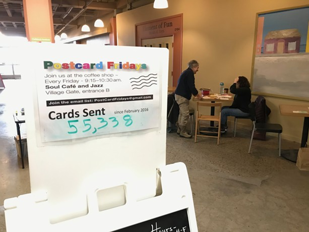 In January 2020, Postcard Fridays organizers estimated volunteers had written more than 55,000 postcards to voters, lawmakers, and other elected officials since the endeavor launched in February 2017. - PHOTO BY DAVID ANDREATTA