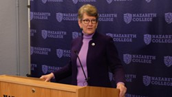 Elizabeth Paul will be Nazareth College's next president. She'll be the seventh female to hold the position. - PHOTO BY JAMES BROWN, WXXI NEWS