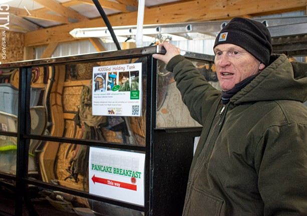 Garry Wohlschlegel of Wohlschlegel Maple Tree Farm in Naples. - PHOTO BY JACOB WALSH