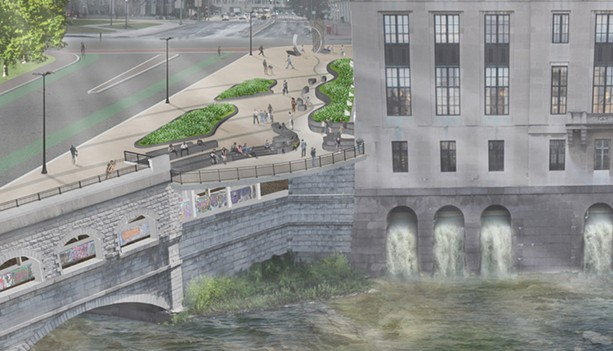 A new terrace will be built alongside the Rundel building. - ILLUSTRATION COURTESY OF THE CITY OF ROCHESTER
