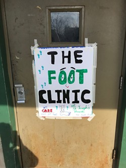 The foot clinic at St. Joseph's House of Hospitality is offered monthly during fall and winter. - PHOTO BY DAVID ANDREATTA
