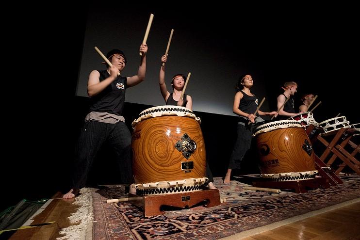 WADAIKO Japanese drums. - PHOTO BY SUE WEISLER