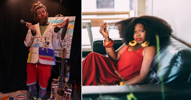 With concerts canceled, Rochester musicians such as Seth Faergolzia (left) and Danielle Ponder are finding alternative ways to connect to their audiences. - LEFT PHOTO PROVIDED / RIGHT PHOTO BY JOCELYN MESTI