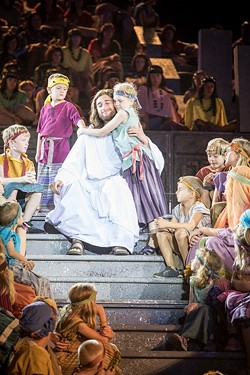 "The spectacle of the Pageant feels like ""The Ten Commandments"" meets Broadway. - PHOTO COURTESY MATT BARR, HILL CUMORAH PAGEANT"
