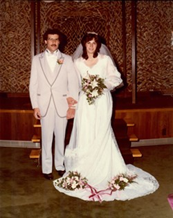 Jerry and Janet Elman on their wedding day in 1983. - PHOTO PROVIDED
