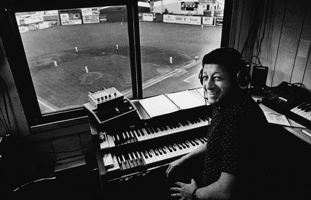 Fred Costello at the organ at Silver Stadium. - PHOTO PROVIDED BY ROCHESTER RED WINGS