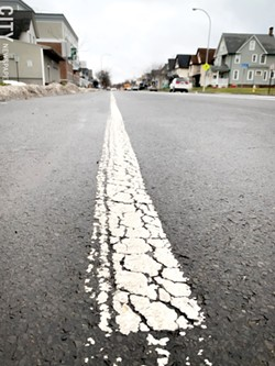 In early 2021, city officials expect to begin a $10 million project to reconstruct East Main Street between North Goodman and Culver. Protected bike lanes will be added as part of the project. - FILE PHOTO