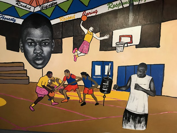 A mural on the wall at the Monroe Family YMCA. - PHOTO BY DAVID ANDREATTA