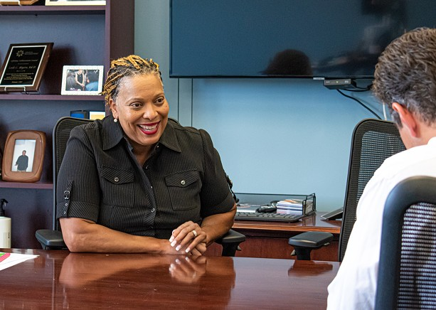 Rochester Superintendent Lesli Myers-Small in her office at the RCSD. - PHOTO BY JACOB WALSH