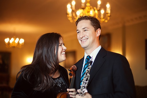 As a result of the novel coronavirus, Society for Chamber Music in Rochester's Juliana Athayde (left) and Erik Behr are planning two virtual concerts in the fall and hope to resume live performances in February. - PHOTO PROVIDED