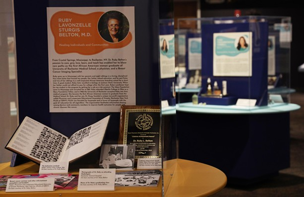 Dr. Ruby Belton's story is one of hundreds on display at the Changemakers exhibit at the Rochester Museum & Science Center. - PHOTO BY MAX SCHULTE