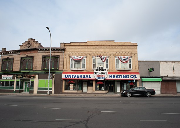 Universal Heating Co., which opened in Bull's Head in 1973, is one of few remaining businesses in what was once a thriving commercial area. - PHOTO BY JEREMY MOULE