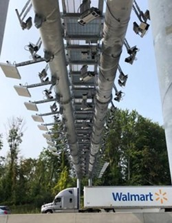 A cashless tolling station on the New York State Thruway between Exits 23 and 24. - PHOTO BY KAREN DEWITT / WXXI NEWS