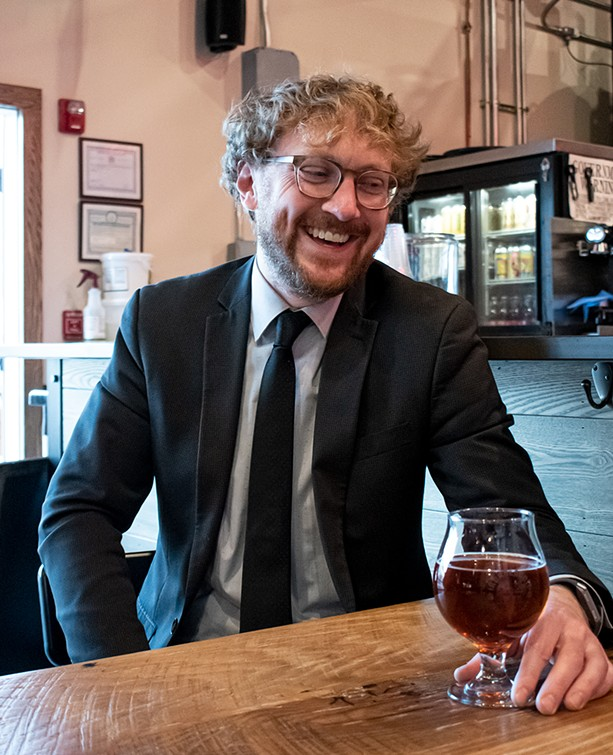 Nate Kester, head brewer at Irondequoit Beer Company. - PHOTO BY JACOB WALSH