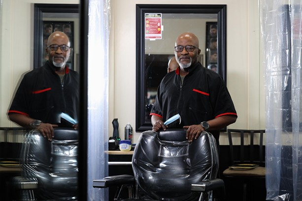 Wade Davis own Wade and Me, a barber shop on Culver Road - PHOTO BY MAX SCHULTE