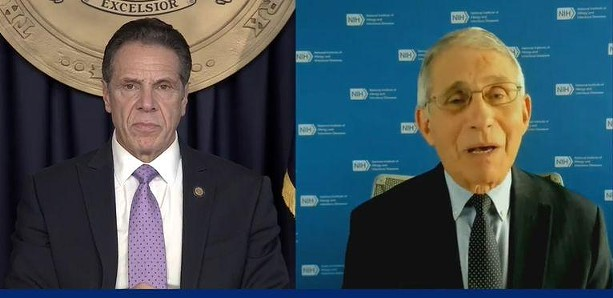 Gov. Andrew Cuomo and Dr. Anthony Fauci during a video news conference on Monday, Dec. 7, 2020. - PROVIDED BY THE OFFICE OF THE GOVERNOR