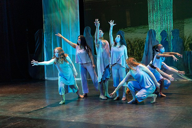 """The Spirit of Community Dancers, performing a dance interlude during """"Spoon River Anthology."""" - PHOTO BY MIKE GUINTO"""
