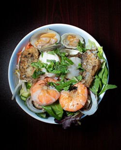 Seafood vermicelli noodle bowl. - PHOTO BY JACOB WALSH